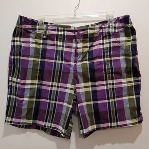 Lane Bryant plaid shorts